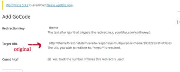 Affiliate link with Redirects